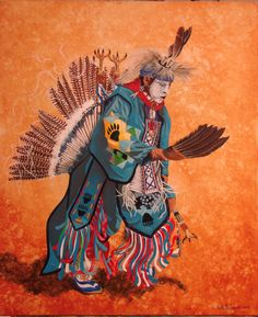 Native American Dancer Don Barnaby; painting by Don Whittemore