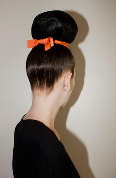 New York Fashion Week S/S 2013 Thom Browne Hair by Bb. Stylist Jimmy Paul #fashionweek #hair #bumble #fashion