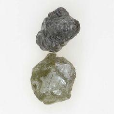 Uncut Natural Rough Diamond Lot 1.31 Ct Silver Gray Color Loose