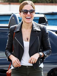 Star Tracks: Monday, September 22, 2014 | HAIR SHE IS | It's leather weather on Friday for Sophia Bush, who sports a cute jacket and jeans on her way to a Beverly Hills hair salon.
