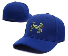 44f2348b1e7 Under Armour Branded Baseball Cap Men Women fitted cap Dad Hat Blue M L