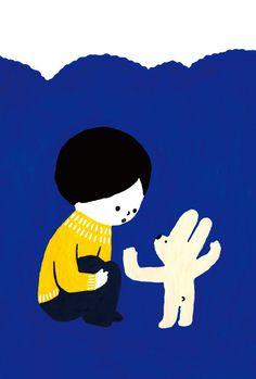 「うさぎさんのいうことには」POST CARD/5 sheet set by 佐藤香苗 アート・写真 イラスト