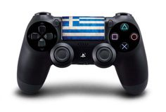 Greek Flag Touch Pad Decal for Playstation 4 (PS4) Dual Shock Controller from Vinyl Infusion
