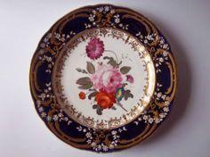 Antique Early 19th Century Coalport Porcelain Plate C1820-22