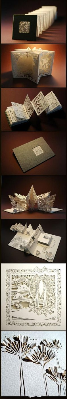 8 delicate paper carvings