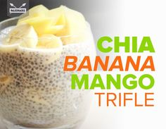 This very simple and super delicious recipe uses chia seeds, milk, honey and fruit to make a trifle. Mango Trifle Recipes, Smoothie Recipes, Smoothies, P3 Snacks, Mango Banana Smoothie, Coconut Recipes, Banana Recipes, Paleo Breakfast, Breakfast Recipes
