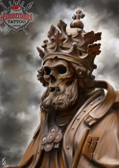 #king #skull #painting