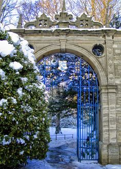 Entry gate, Oxford, England