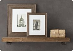 Reclaimed Wood Wall Shelf (From Restoration Hardware. Surely there's a less expensive way to get this look. Reclaimed Wood Kitchen, Reclaimed Wood Shelves, Wood Wall Shelf, Rustic Shelves, Wall Shelves, Rustic Wood, Wall Ledge, Kitchen Shelves, Kitchen Wood
