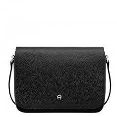 e90a75b895257 AIGNER Juno S Shoulder Crossbody bag Black Genuine leather tasche