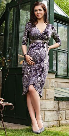 Tulip Bloom Maternity Dress (Dusk) by Tiffany Rose