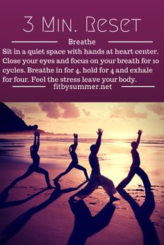 When you are feeling stressed. Breathe!