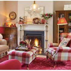 Autumn Cosiness With Cranberry Cottage is part of Cottage Living Room Laura Ashley - Learn everything you need to know about our cranberry cottage collection Living Room Red, Cottage Living Rooms, Cottage Interiors, Home And Living, Cottage Homes, Living Area, Style At Home, Childrens Room Decor, Home And Deco