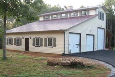 Barn/Man Cave w/ RV Storage - needs a porch built on it but otherwise a great idea.