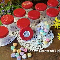 12 New JARS 2 oz Container Polyprop Plastic RED Screw Top Lids 5307 DecoJars USA #DecoJars
