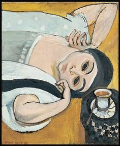 Henri Matisse - Laurette's Head with a Coffee Cup 1917 oil on canvas Kunstmuseum, Solothurn Henri Matisse, Matisse Kunst, Matisse Art, Pablo Picasso, Matisse Paintings, Picasso Paintings, Artwork Paintings, Raoul Dufy, Matisse Pinturas