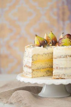 Honey Lemon Poppy Seed Cake. A beautiful cake for celebrating!