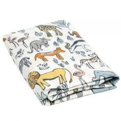 Safari Fitted Crib Sheet by #DwellStudio - Easily change up the look in your nursery with Dwell Studio's line of fitted sheets.