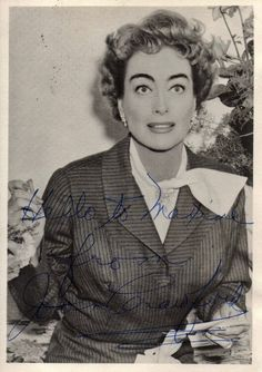 Joan Crawford autographed photo