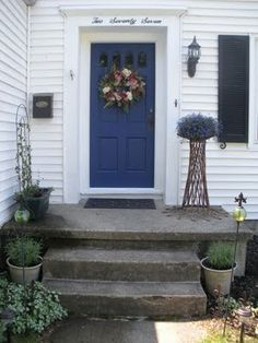 front door colors for white house with black shutters | outside ...