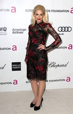 Gwen Stefani; This dress is so pretty.