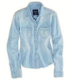 Denim shirt to go with all outfits. Can wear over the tees if its a tad chilly, can wear on its own, as a jacket over your LBD, with skirts ... a must!