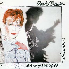 "David Bowie, ""Scary Monsters"" [and Super Creeps ], LP., Rca Records, (1980), Front Cover Illustrated by Edward Bell (b. ?, English) - David Bowie Portrait."