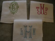 No. Four Eleven: monograms - hand towels