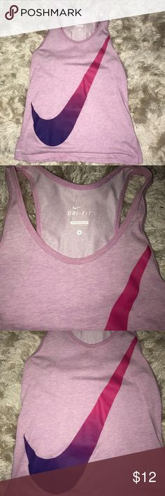 Nike Ombré Swoosh Tank Fitted cotton tank. Worn only a few times and in excellent condition! Nike Tops Tank Tops