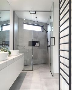 "Small Bathroom Design Black - Small Bathroom Design Black life-style, bath trends, Highgrove bathrooms[[caption id="""" align=""aligncenter"" Bathroom Vanity Tops, Grey Bathrooms, Modern Bathroom, Bathroom Gray, Bathroom Showers, Bad Inspiration, Bathroom Inspiration, Bathroom Ideas, Shower Ideas"