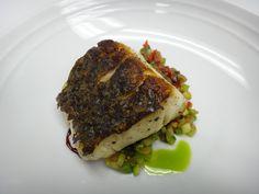 SECONDI prep  PESCE*  striped bass, fregola, insalata caponata