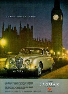 """frenchcurious: """" Publicité Jaguar 1965 - Vintage Automobile Dealerships and Automobilia. """""""