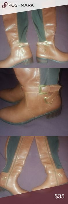 💣💥💣BLOWOUT💣💥💣Rampage Rider Boots REDUCED $20 FOR BLOWOUT SALE 😲😲 N.W.O.T Fashionable Rider with zippers as shown in the pic they have the Gold buckle on the lower part of the boots with straps designed to fit any occasion...... BUNDLE 3 OR MORE FOR BIGGER DISCOUNT Rampage Shoes Combat & Moto Boots