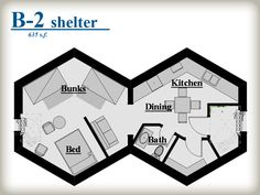 The honey bee under ground shelter 39 s that are prefab b 7 for Honeycomb house floor plan