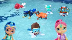 Paw Patrol Toys Pool Party Bath Paddlin Pup Underwater Ryder Chase Squirter Shimmer and Shine with Sparkle Spice.  Subscribe here to never miss a video: https://www.youtube.com/channel/UCsRW8ikkc-uISUXtNKBfFcw?sub_confirmation=1  - Watch my last video: https://youtu.be/2DYlS-K43KI   Video Links from Annotations   Paw Patrol Pool Party Bath Toys Pup Squirters Underwater Toys Chase Sky Rescue Marshall Rocky: https://youtu.be/CAqYrx97Sv8  Paw Patrol Toys Pool Party Bath Paddlin Pup Underwater…