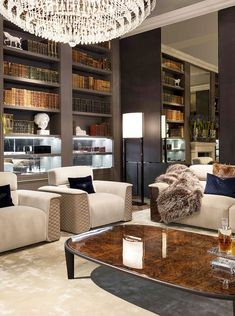Bentley Home - Lux armchairs, Cliffden coffee table and Lux Royce sofa www.luxurylivinggroup.com #Bentley #LuxuryLivingGroup