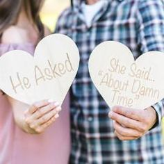 Engagement Sign Photo Prop