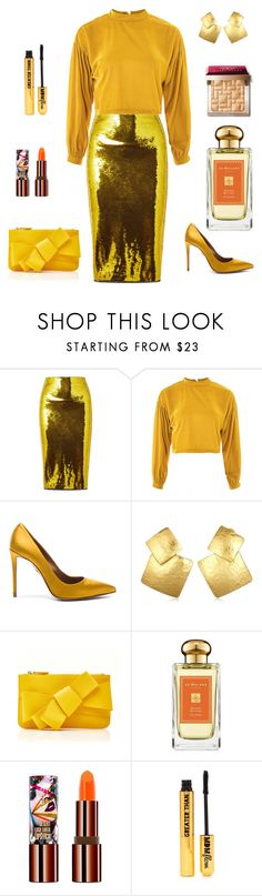 """Shining New Year Look"" by april-1884 ❤ liked on Polyvore featuring Tom Ford, Topshop, Aquazzura, Oscar de la Renta, Delpozo, Jo Malone, Teeez, Nasty Gal and Bobbi Brown Cosmetics"