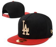 de4846f7 Men's Los Angeles Dodgers New Era 9Fifty Gold Metal LA Logo A-Frame  Baseball Snapback Hat - Black / Red