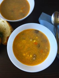 This beef soup is definitely one to try. Rich in flavour of beef, mushrooms and vegetables. Porcini Mushrooms, Wild Mushrooms, Stuffed Mushrooms, Stuffed Peppers, Venison, Beef, Steak Tartare, Lactose Free, Steak Recipes