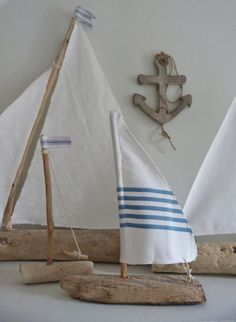 driftwood sailboat rustic nautical home decor by beachcomberhome