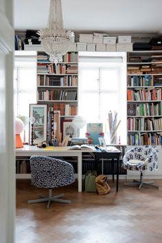 I like cozy messy studies full of old books