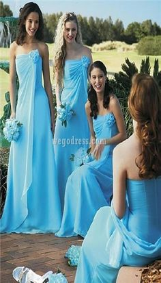 Blue bridesmaid dress is a best color ideas.Now days Blue bridesmaid dress trends for wedding party.So we provide you new blue bridesmaid dress style Blue Bridesmaids, Wedding Bridesmaids, Bridesmaid Color, Aqua Blue Bridesmaid Dresses, Blue Wedding Dresses, Bridal Dresses, Wedding Gowns, Blue Dresses, Bridesmaids