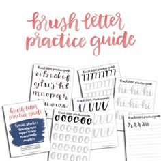 Free Brush Lettering Practice Sheet - Sublime Reflection