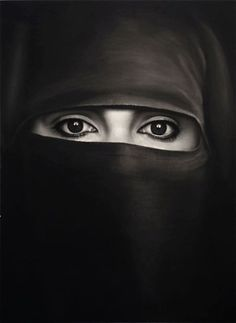 An eight foot high drawing of a woman wearing a burka by American artist Robert Longo  was priced at $275,000 - awesome artwork.
