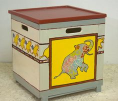 Toy box withe elephants  By Varda Artisticolors