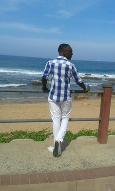 White with shades of blue, DC shoes pants by gravitie at umhlanga beach South Africa