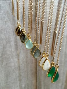 Gemstone Threader Earrings U Threader Earrings by julianneblumlo