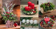 Arreglos-navideños-estilo-rústico 3 D, Table Decorations, Furniture, Home Decor, Bookmarks, Decor Ideas, Rustic Style, Paper, Home Decorations