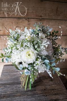 Bridal Bouquet White Anemone Rose Ranunculus Baby's